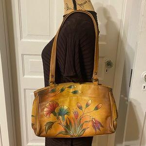 Anuschka Hand Painted Leather Shoulder Bag / Purse